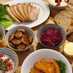 Traditionel julefrokost buffet